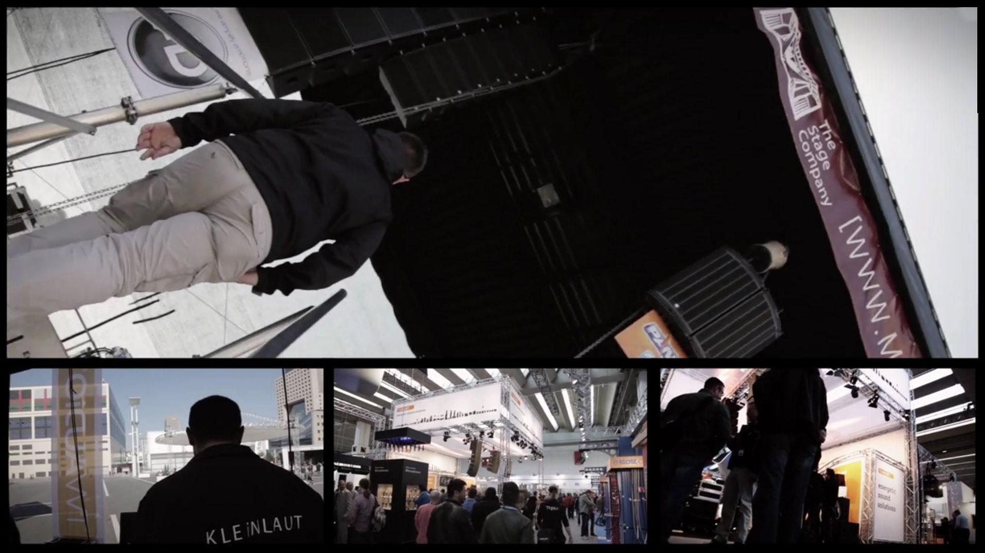 75a entwickelt für TW AUDiO aus Ludwigsburg ein Messevideo von der Pro Light and Sound
