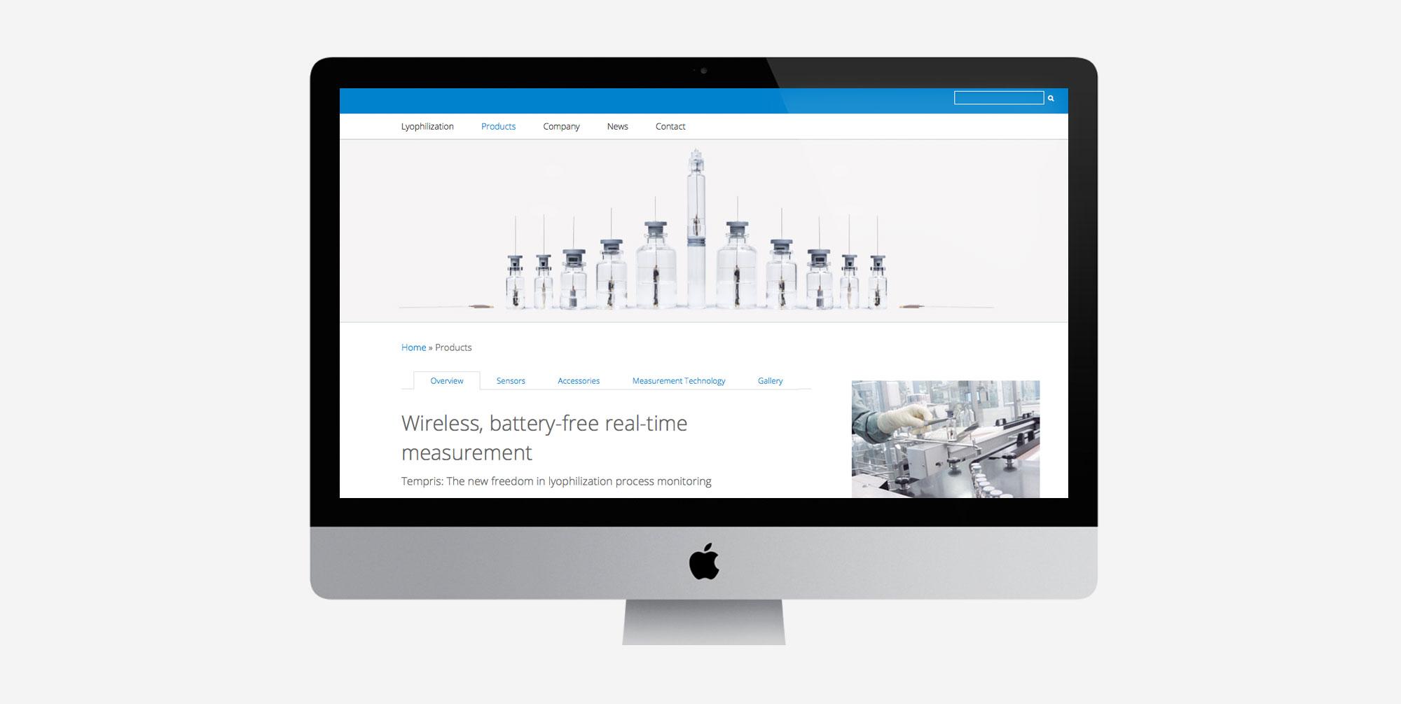 75a gestaltet die neue Website von Tempris aus Holzkirchen
