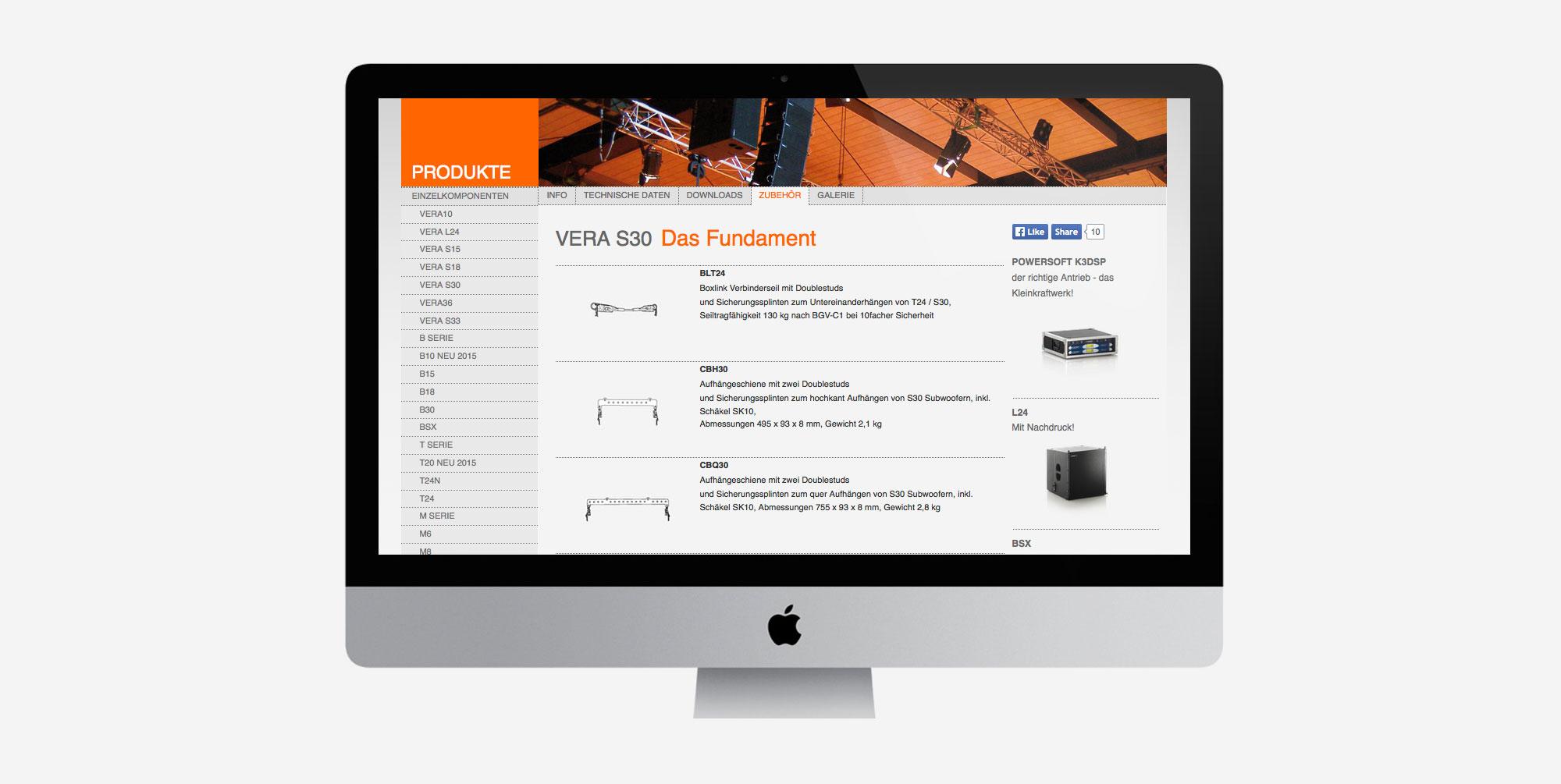 Für TW AUDiO aus Ludwigsburg entwickelte 75a die neue Website