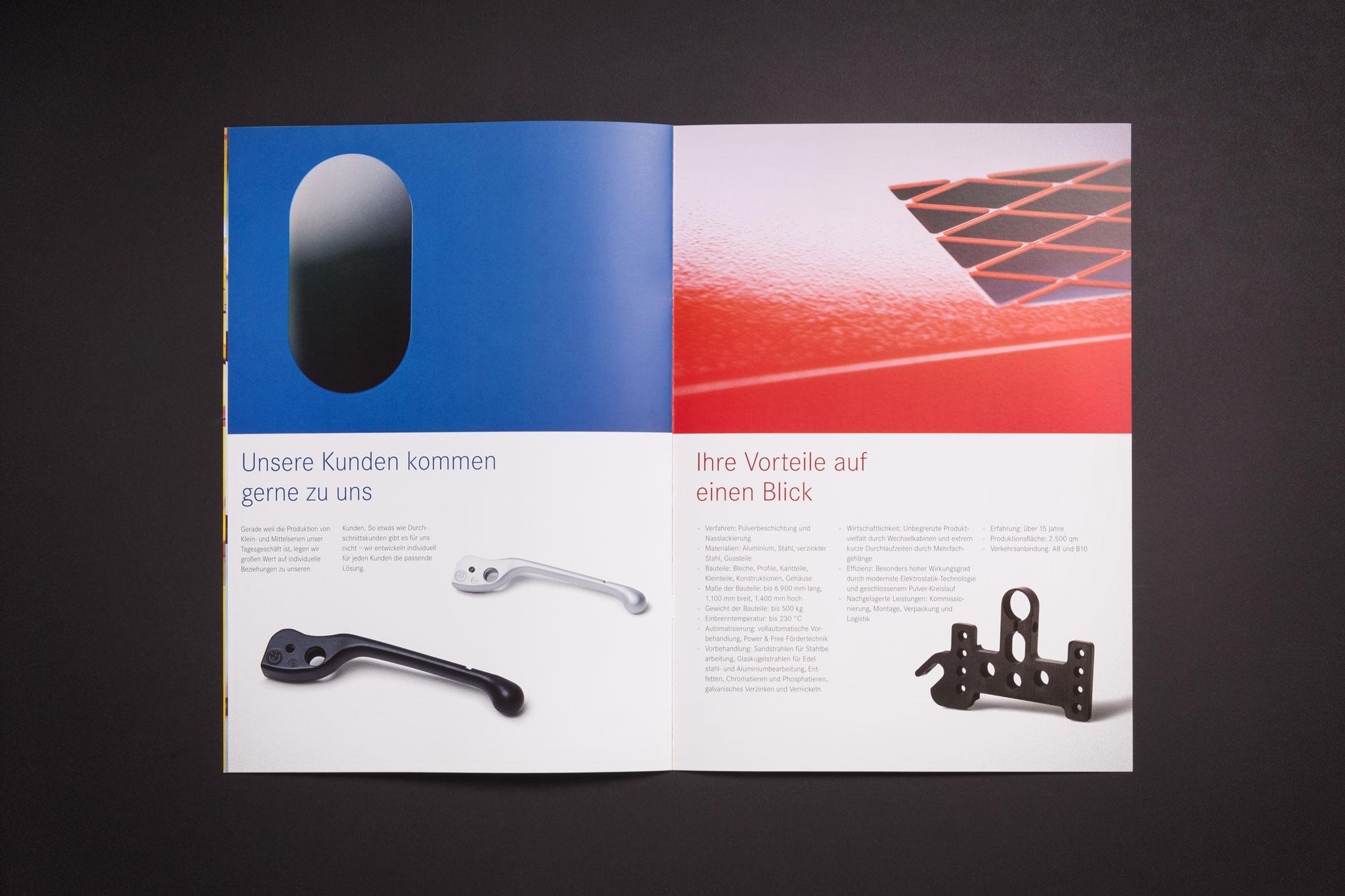 Für Rädisch Oberflächentechnik aus Kichheim/Teck gestaltet 75a eine Imagebroschüre