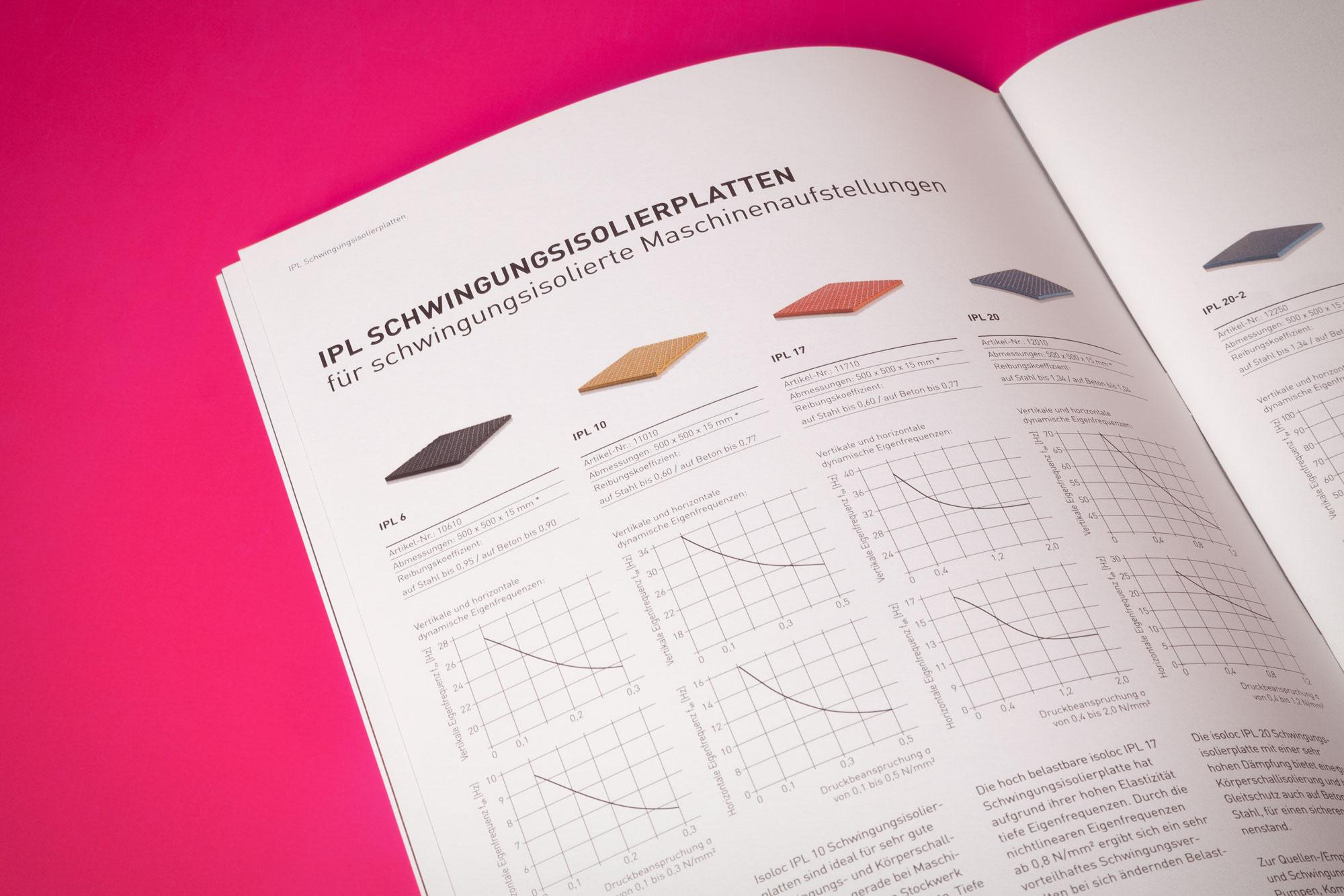 75a gestaltet den neuen Produktkatalog von isoloc Schwingungstechnik