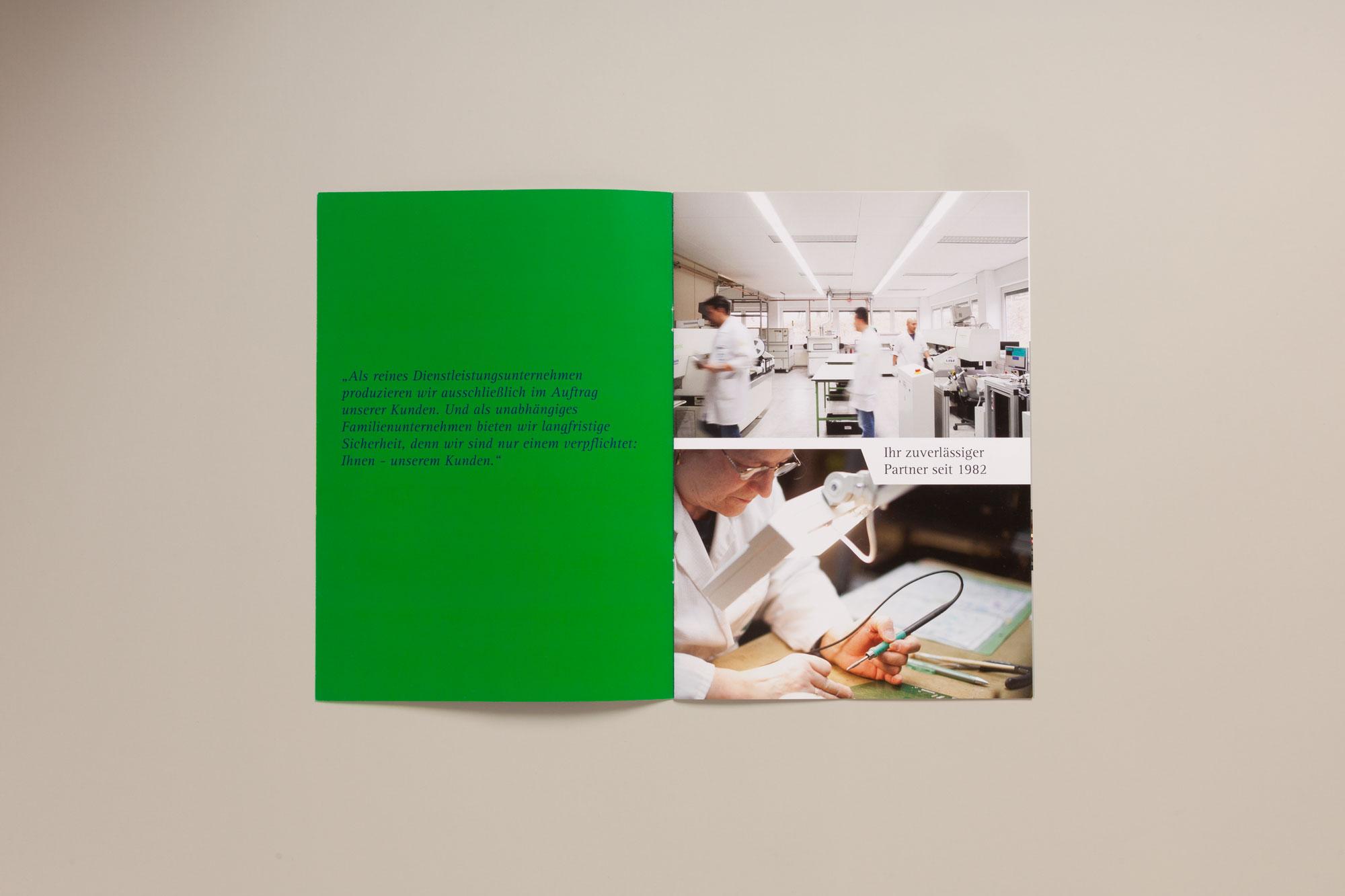 Fotokonzeption und Broschürenentwicklung für Rinklin Elektronik aus Neuffen