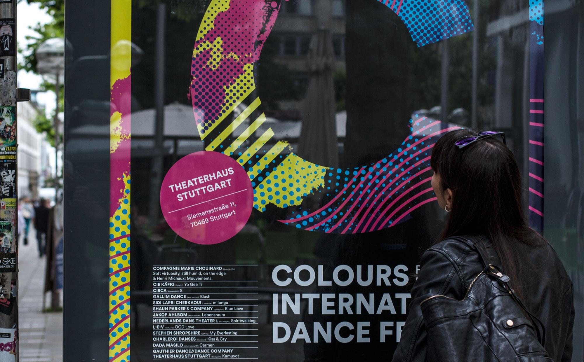 75a aus Stuttgart entwickelt das Corporate Design des Colours International Dance Festival 2015 presented by Eric Gauthier