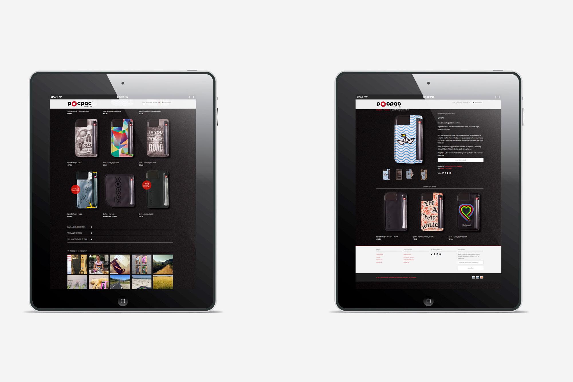 75a aus Stuttgart gestaltet die Website von Pocpac