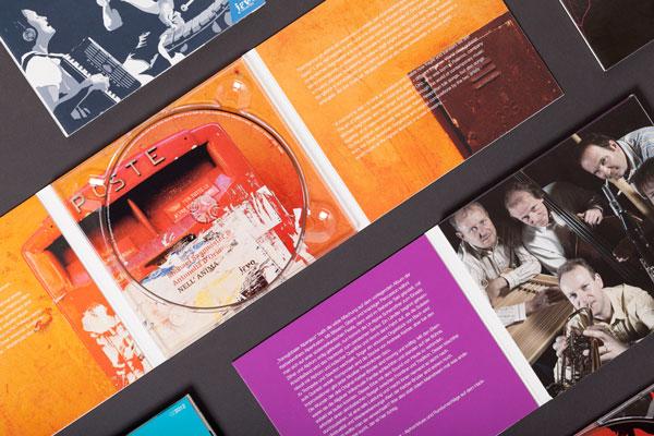 75a entwickelt das Corporate Design und gestaltet alle Cover der Musikproduktionen von jawo records