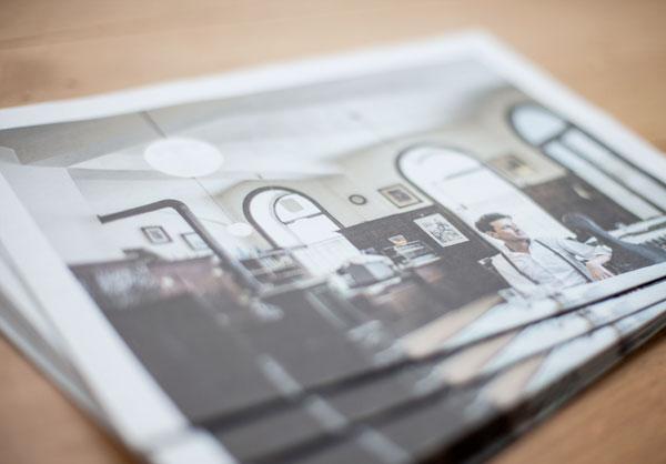 75a Büro für Gestaltung aus Stuttgart entwirft Das CD-Booklet des Wiener Musikers Norbert Schneider in Form einer Zeitung