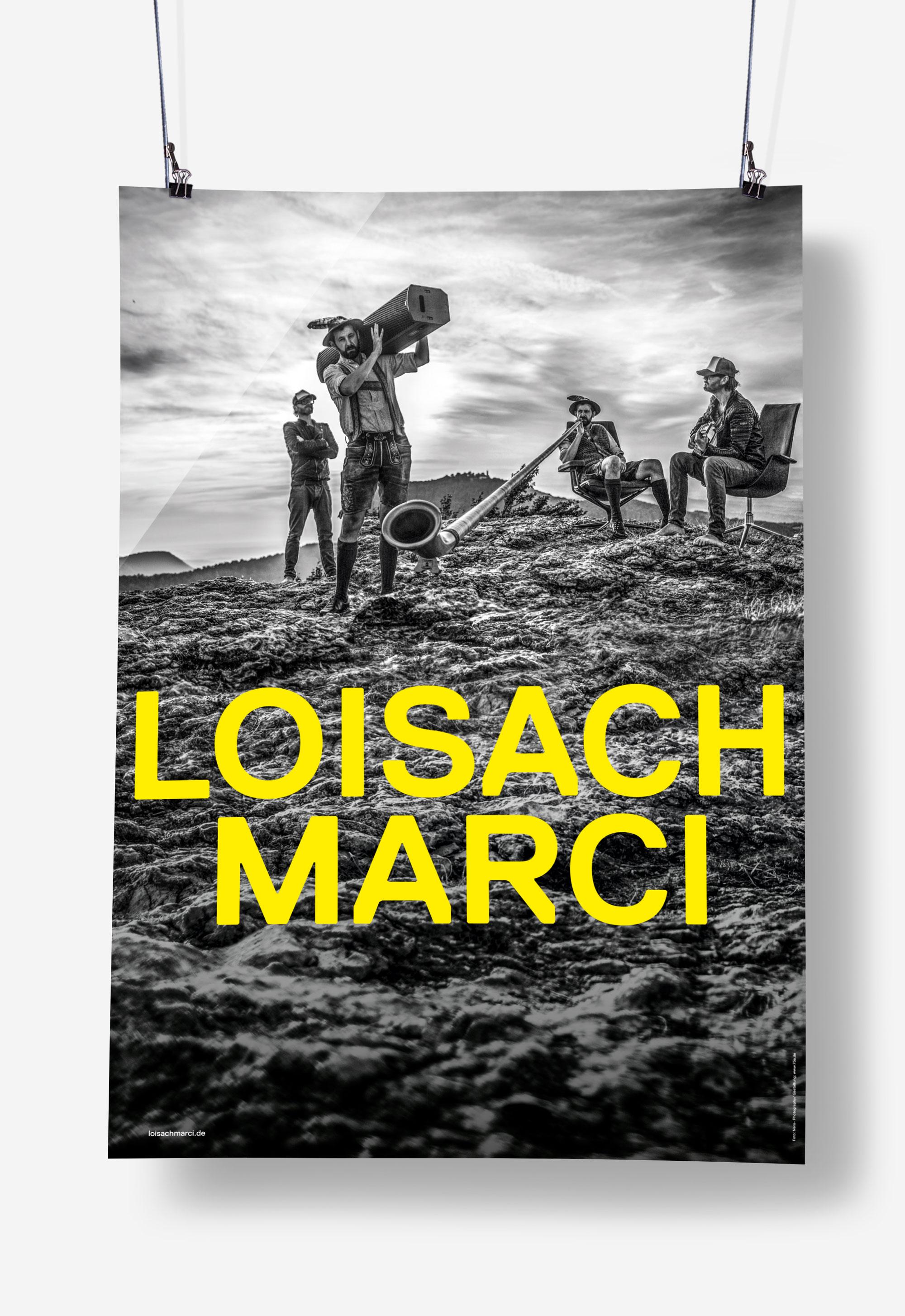 75a, Büro für Gestaltung aus Stuttgart, hat das Tourplakat für Loisach Marci gestaltet.