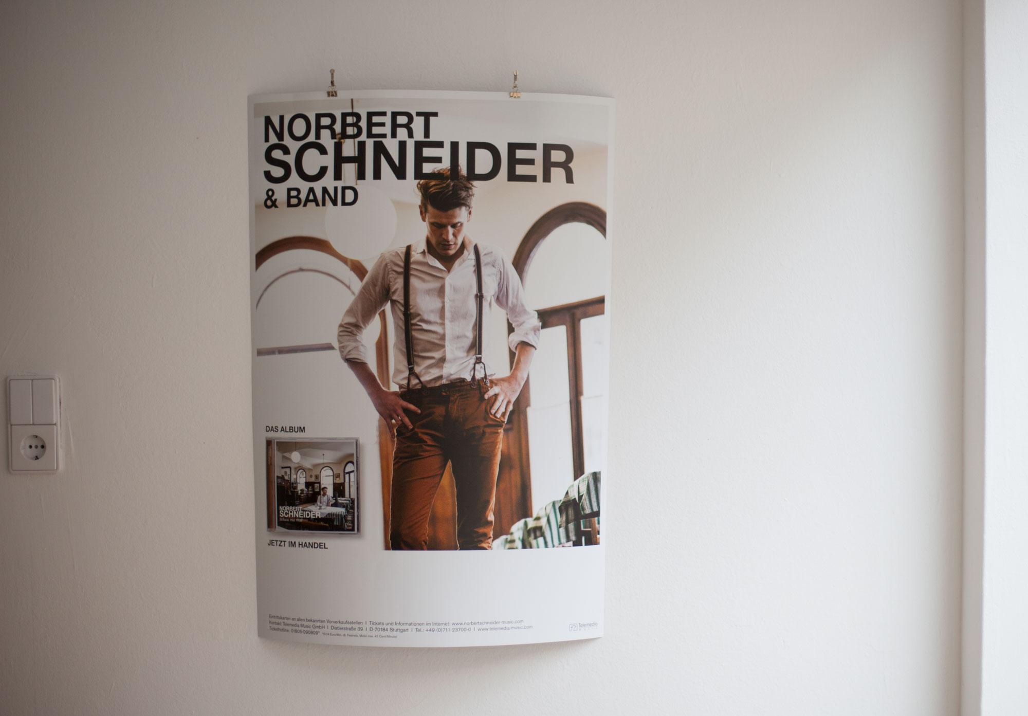 75a Büro für Gestaltung aus Stuttgart entwirft das Konzertplakat des Wiener Musikers Norbert Schneider