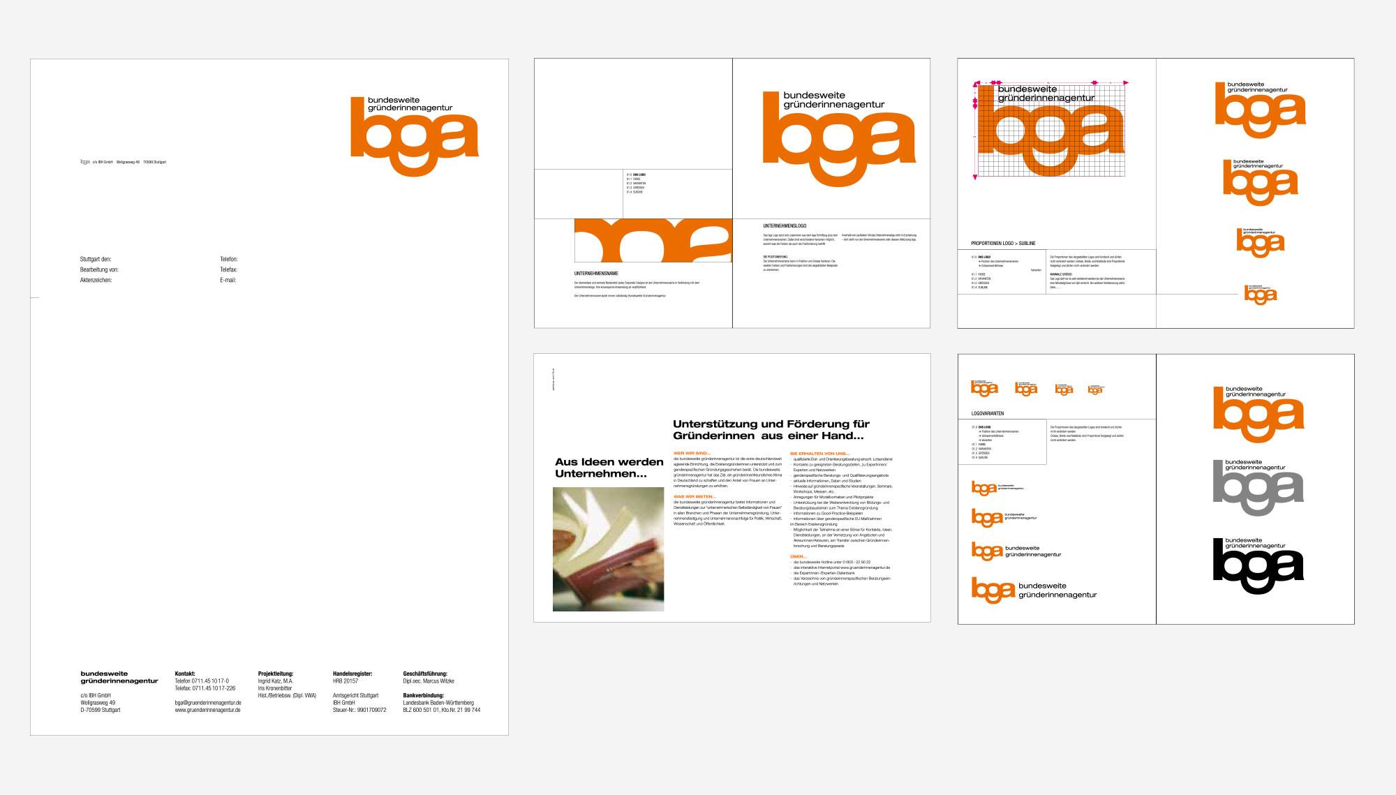 75a entwickelt das Corporate Design der Bundesweiten Gründerinnenagentur