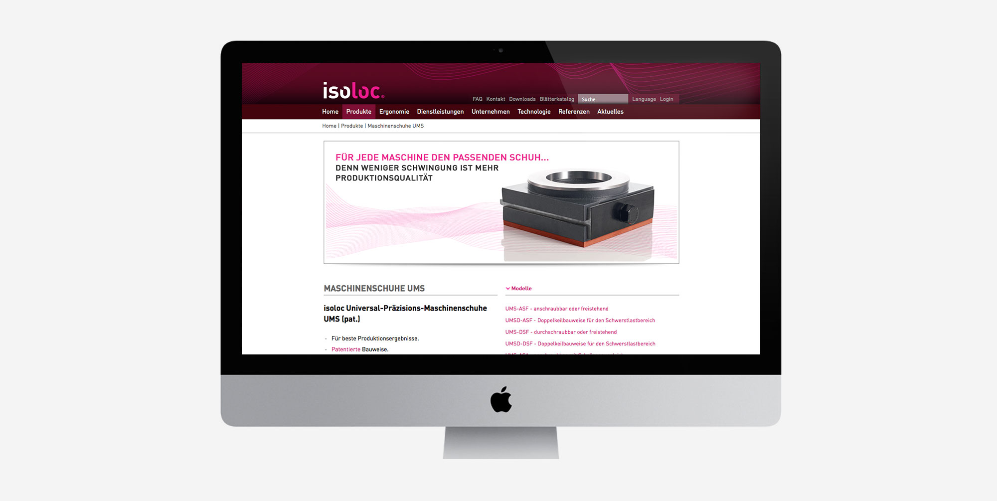 75a gestaltet die neue Website von isoloc
