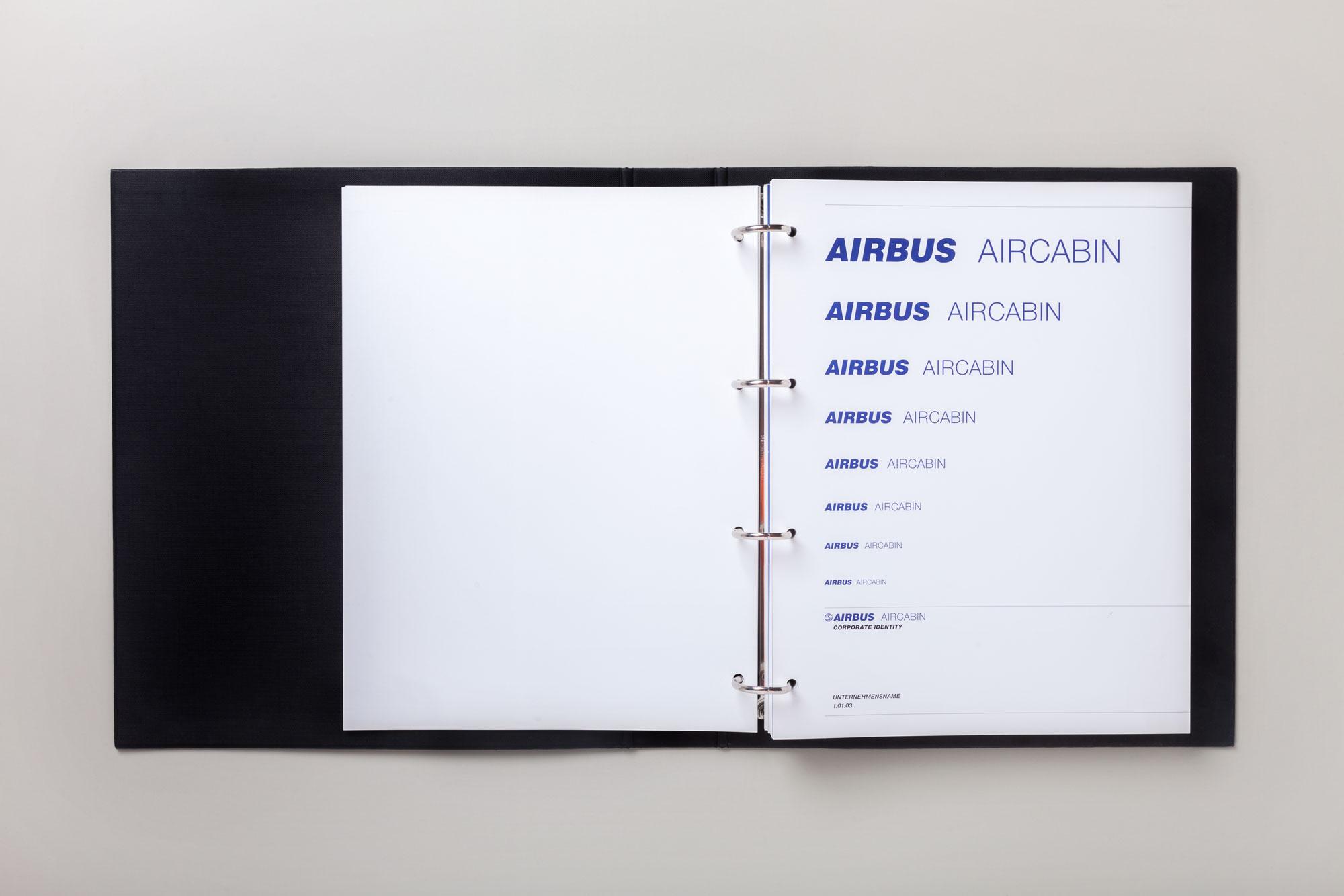 75a hat das Corporate Design für Airbus Aircabin Deutschland gestaltet