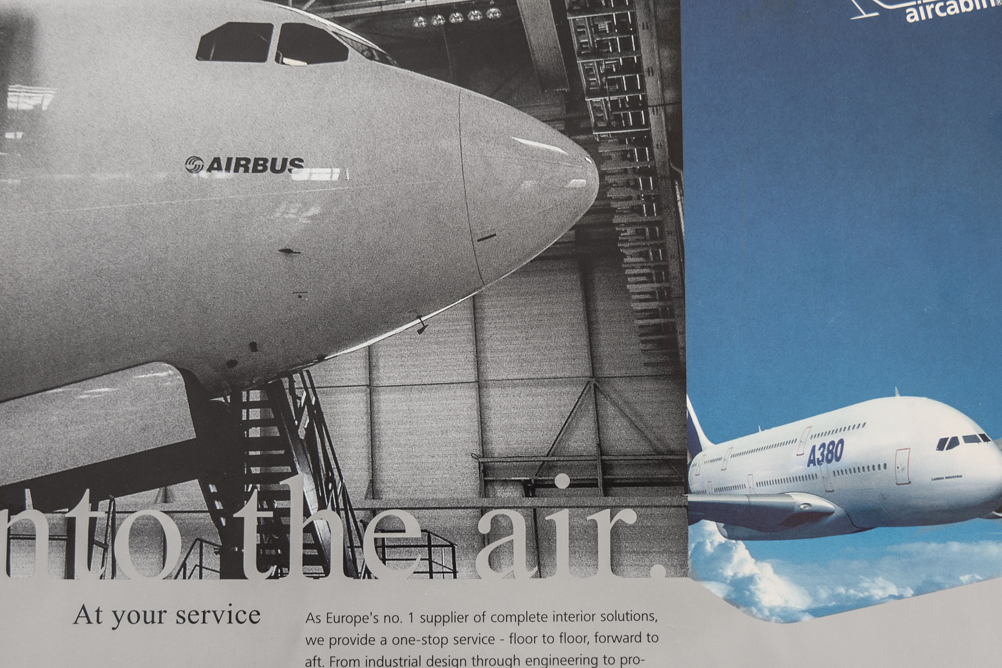 75a gestaltet verschiedene Flyer für Airbus Aircabin Deutschland