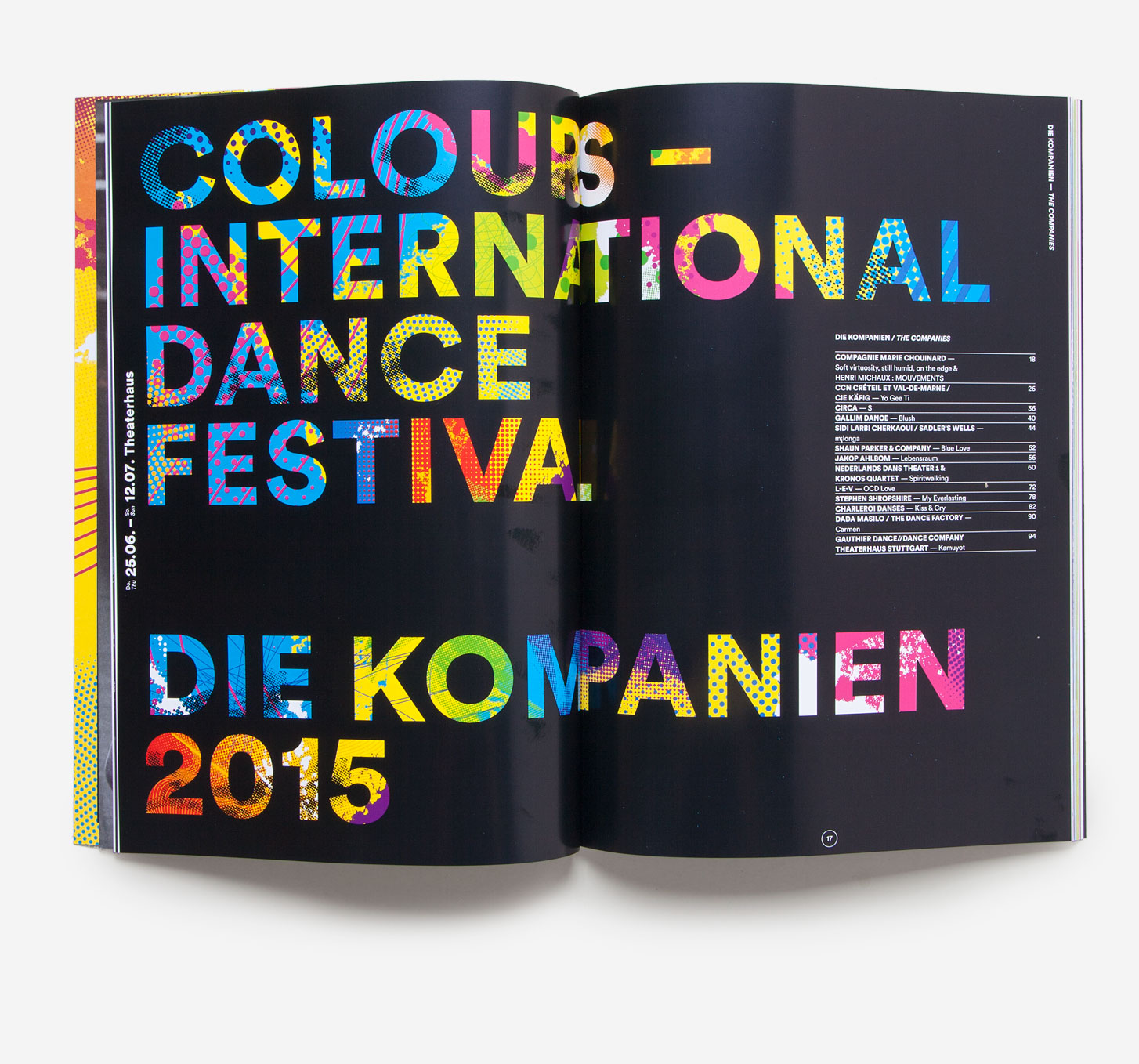75a aus Stuttgart entwickelt das Corporate Design von Colours International Dance Festival 2015 presented by Eric Gauthier