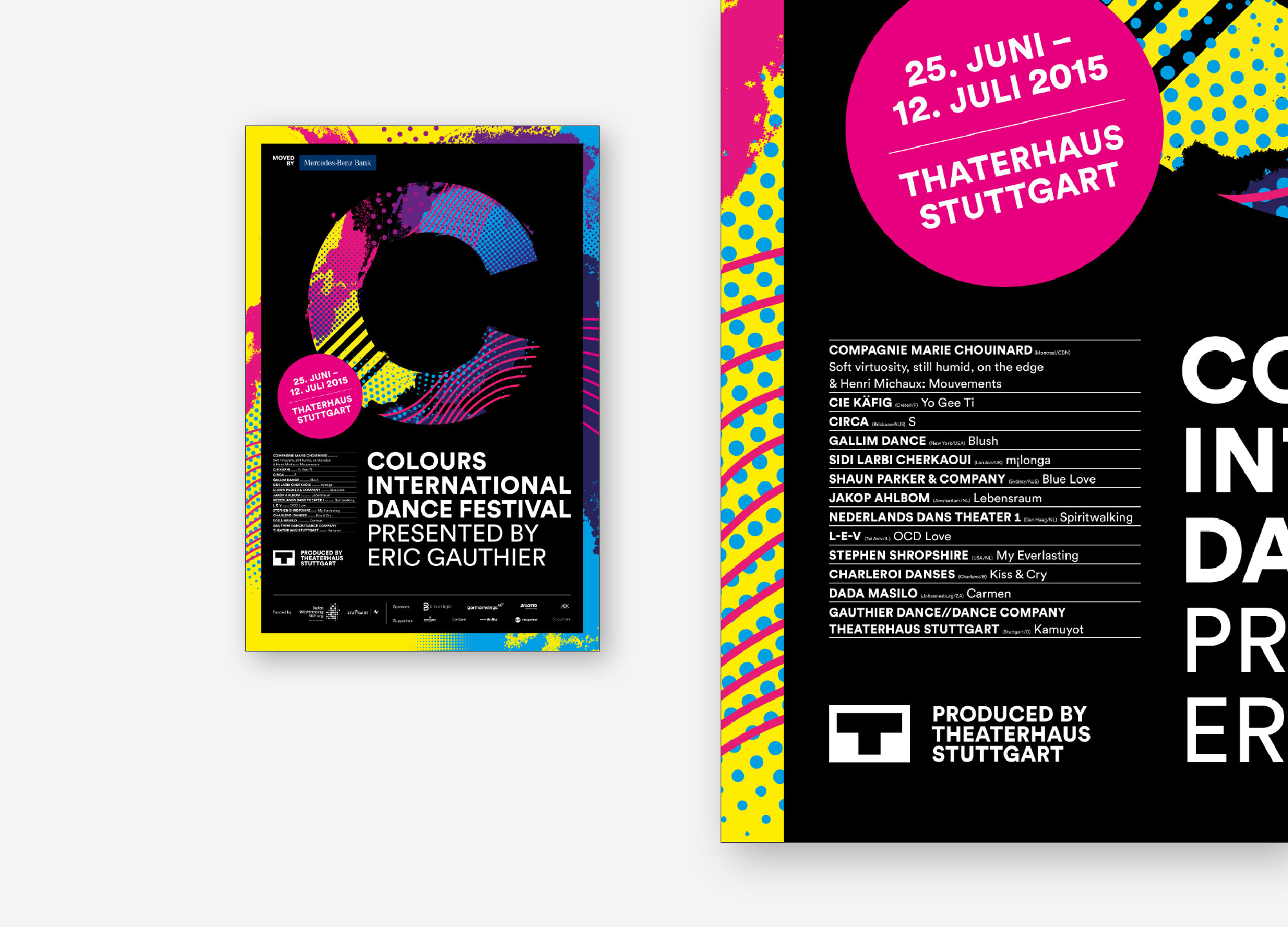 75a aus Stuttgart entwickelt das Corporate Design des Colours International Dance Festival 2015 presented by Eric Gauthier