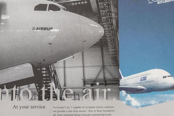 75a gestaltet Flyer für Airbus Aircabin Deutschland