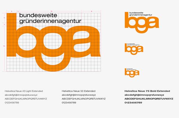 Corporate Design der Bundesweiten Gründerinnenagentur von 75a aus Stuttgart