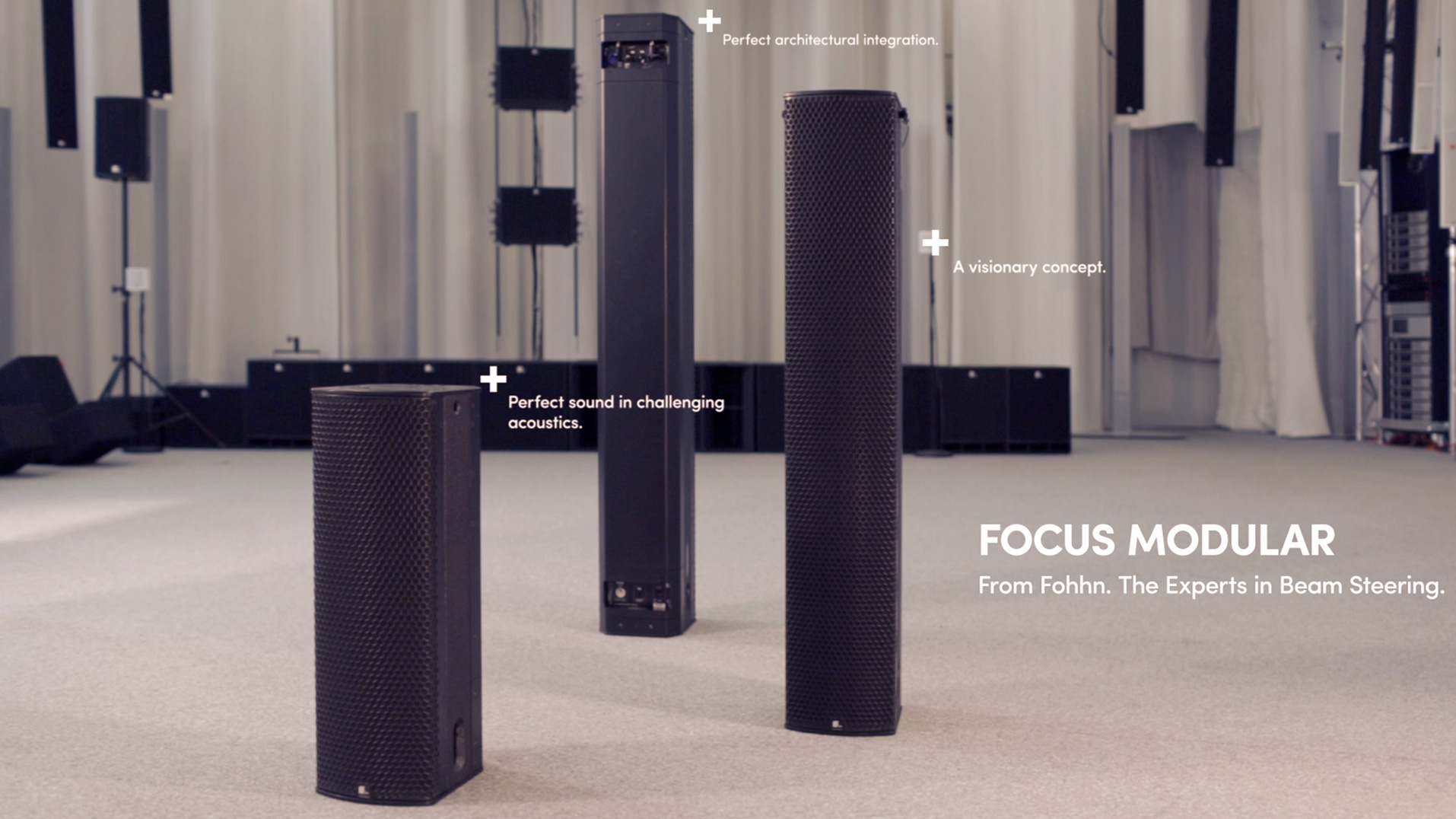 Motion Graphic Produktvideo über Fohhn Focus Modular im Gewandhaus Leipzig