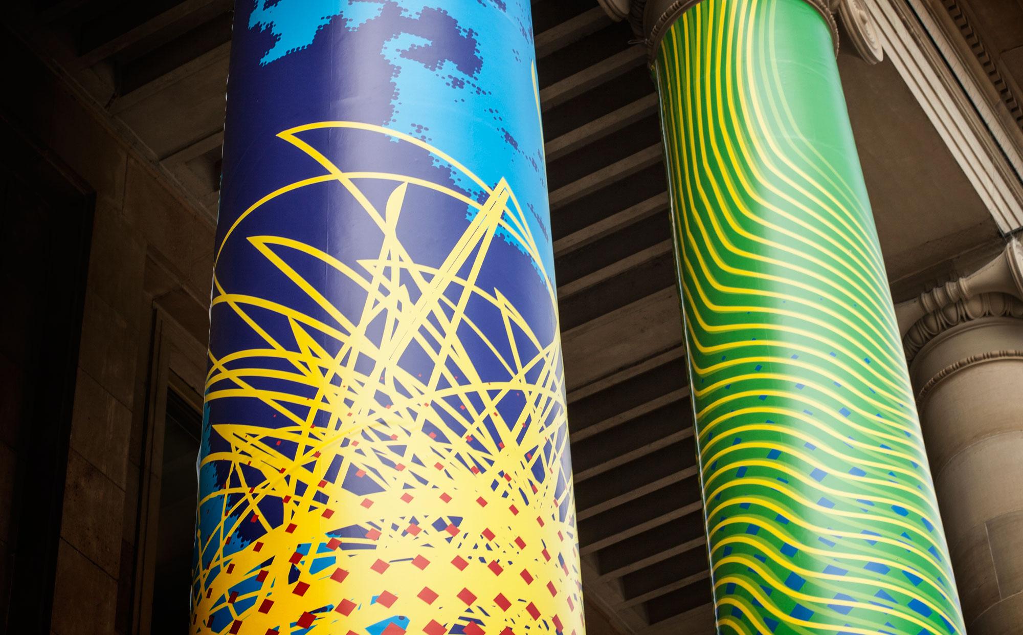 75a gestaltet 10 Säulen des Stuttgarter Königbaus