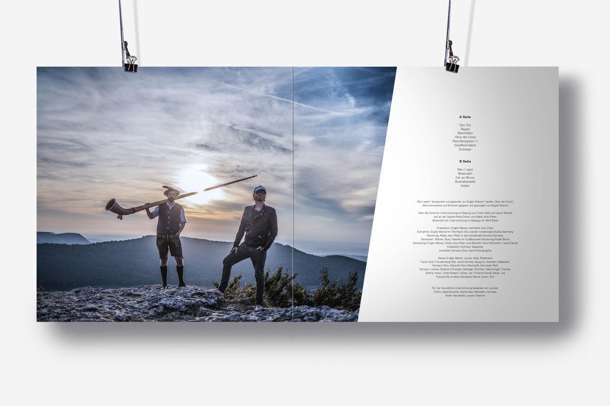 75a, Büro für Gestaltung aus Stuttgart gestaltet das Plattencover von Loisach Marci