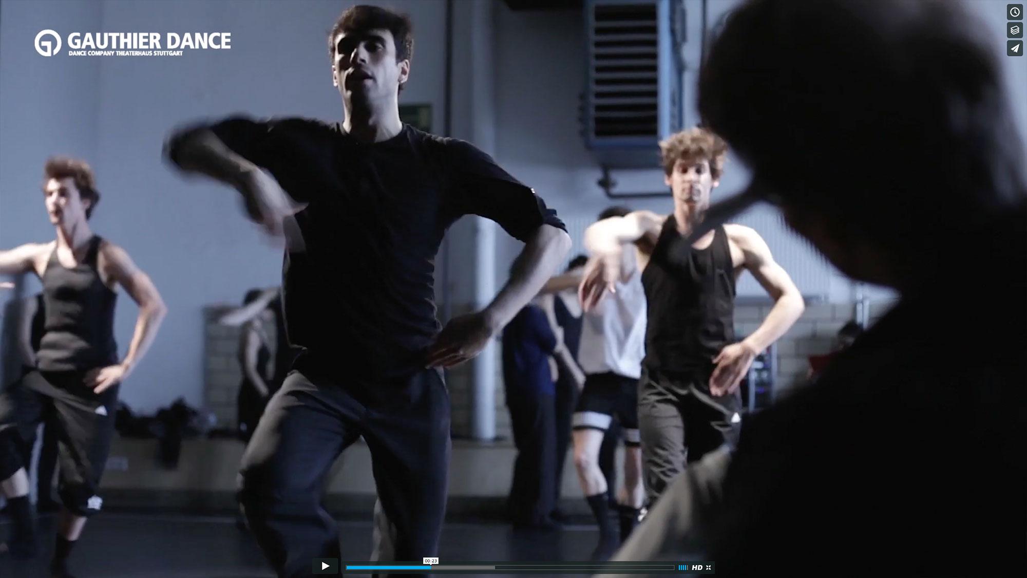 75a, Büro für Gestaltung, filmt die Proben mit Marco Goecke zum neuen Ballett Nijinski