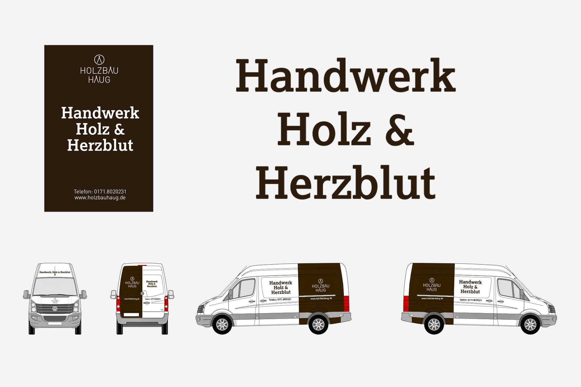 75a, Büro für Gestaltung aus Stuttgart entwirft Corporate Design für Holzbau Haug aus Nürtingen