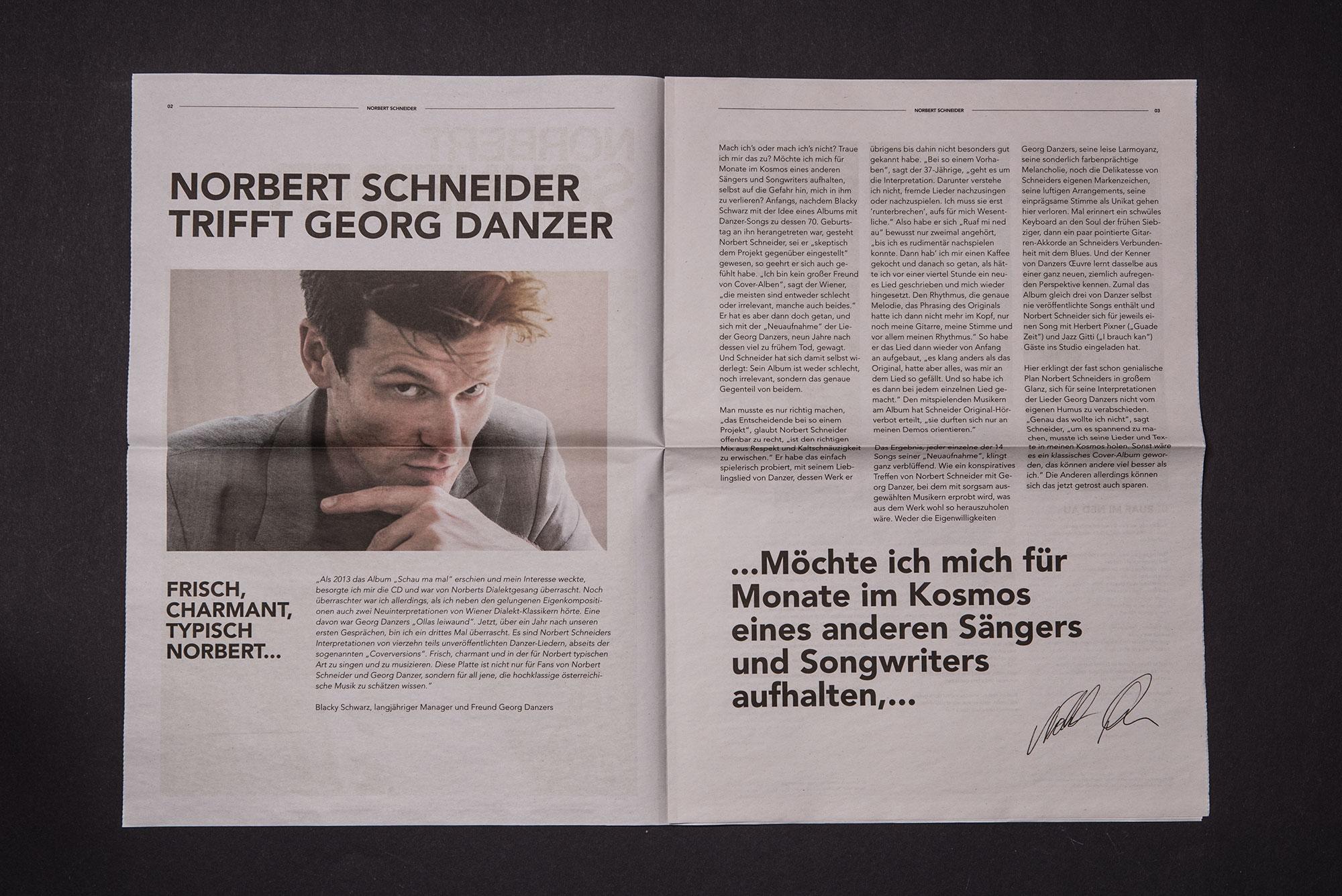 Die Designagentur 75a aus Stuttgart gestaltet das neue Artwork von Norbert Schneider
