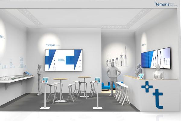 Die Designagentur 75a gestaltet den Messeauftritt der Firma Tempris